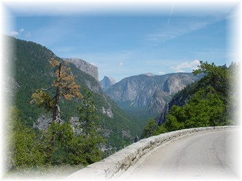 Photo of 1st view of Yosemite Valley from Hwy. 41